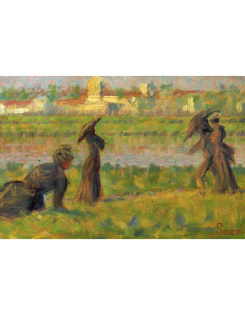 Reprodukcje obrazów Figures in a Landscape - Georges Seurat