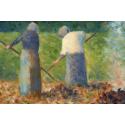 Reprodukcje obrazów Haymakers at Montfermeil - Georges Seurat