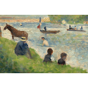 Reprodukcje obrazów Horse and Boats - Georges Seurat