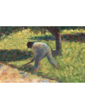 Reprodukcje obrazów Peasant with a Hoe - Georges Seurat