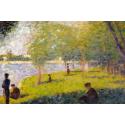 Reprodukcje obrazów Study for A Sunday on La Grande Jatte - Georges Seurat