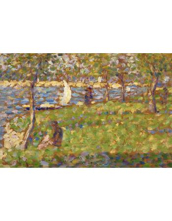 Reprodukcje obrazów Study for La Grande Jatte - Georges Seurat