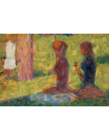 Study of Figures for La Grande Jatte