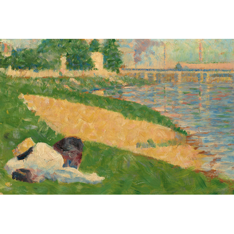 The Seine with Clothing on the Bank