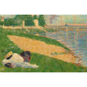 Reprodukcje obrazów The Seine with Clothing on the Bank - Georges Seurat