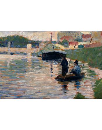Reprodukcje obrazów View of the Seine - Georges Seurat