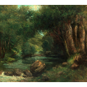Reprodukcje obrazów A Brook in the Forest - Gustave Courbet