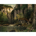 Reprodukcje obrazów River and Rocks - Gustave Courbet