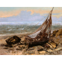 Reprodukcje obrazów The Fishing Boat - Gustave Courbet