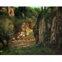 Reprodukcje obrazów The Hidden Brook - Gustave Courbet