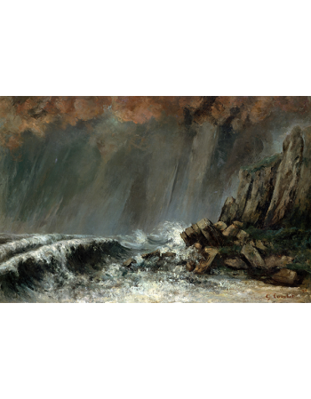 Reprodukcje obrazów The Waterspout - Gustave Courbet