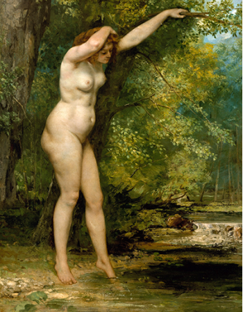 Reprodukcje obrazów The Young Bather - Gustave Courbet