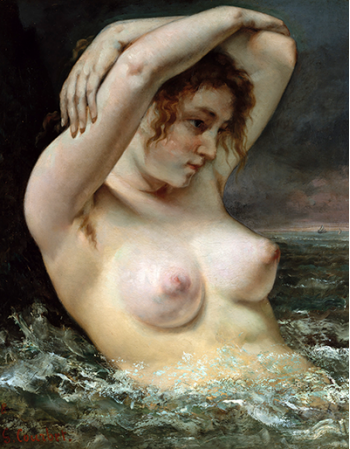 Reprodukcje obrazów The Woman in the Waves - Gustave Courbet