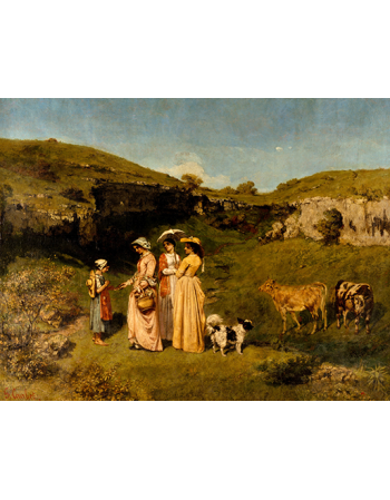 Reprodukcje obrazów Young Ladies of the Village - Gustave Courbet