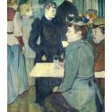 Reprodukcje obrazów A Corner of the Moulin de la Galette - Henri de Toulouse-Lautrec