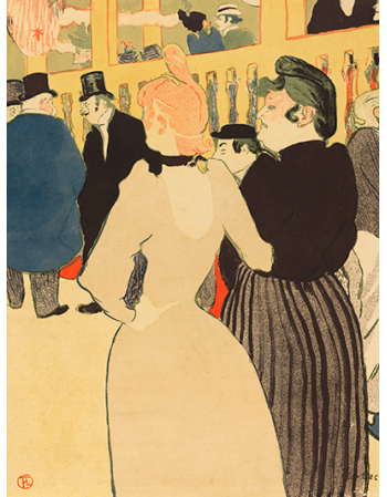 Reprodukcje obrazów At the Moulin Rouge, la Goulue and Her Sister - Henri de Toulouse-Lautrec