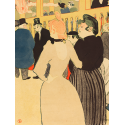 Reprodukcje obrazów At the Moulin Rouge, la Goulue and Her Sister - Henri de Toulouse-Lautrec