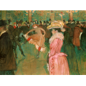 Reprodukcje obrazów At the Moulin Rouge-The Dance - Henri de Toulouse-Lautrec