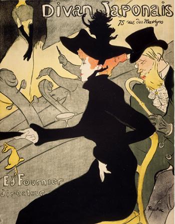 Reprodukcje obrazów Divan Japonais - Henri de Toulouse-Lautrec