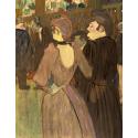 Reprodukcje obrazów La Goulue and Her Sister - Henri de Toulouse-Lautrec