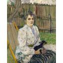 Reprodukcje obrazów Lady with a Dog - Henri de Toulouse-Lautrec