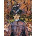 Reprodukcje obrazów Portrait de Suzanne Valadon - Henri de Toulouse-Lautrec