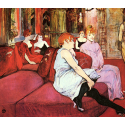 Reprodukcje obrazów Salon at the Rue des Moulins - Henri de Toulouse-Lautrec