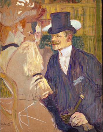Reprodukcje obrazów The Englishman at the Moulin Rouge - Henri de Toulouse-Lautrec