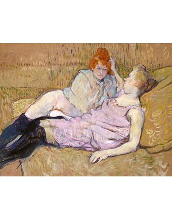 Reprodukcje obrazów The Sofa - Henri de Toulouse-Lautrec