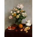 Reprodukcje obrazów Flowers and Fruit - Henri Fantin-Latour