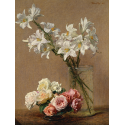 Reprodukcje obrazów Roses and Lilies - Henri Fantin-Latour