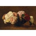 Reprodukcje obrazów Roses in a Bowl - Henri Fantin-Latour