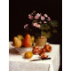 Still life primroses, pears and romenates