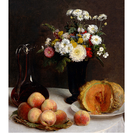 Still Life with a Carafe, Flowers and Fruit