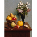 Reprodukcje obrazów Still Life with Flowers and Fruit - Henri Fantin-Latour