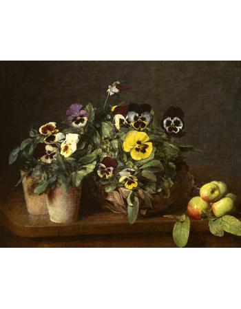 Reprodukcje obrazów Still Life with Pansies - Henri Fantin-Latour