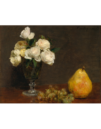 Reprodukcje obrazów Still Life with Roses and Fruit - Henri Fantin-Latour