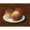 Reprodukcje obrazów Three Peaches on a Plate - Henri Fantin-Latour