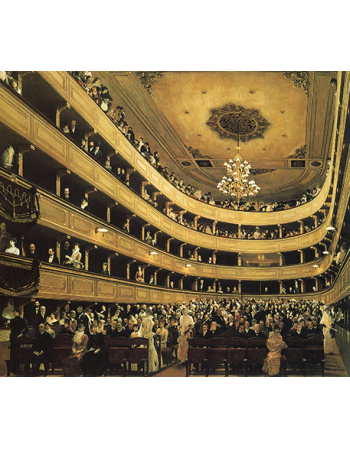 Reprodukcja obrazu Gustav Klimt Auditorium in the Old Burgtheater, Vienna