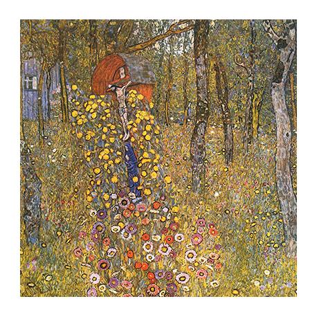 Reprodukcja obrazu Gustav Klimt Farm garden with crucifix