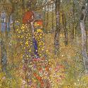 Reprodukcje obrazów Farm garden with crucifix - Gustav Klimt