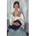 Reprodukcje obrazów Gypsy Woman with Baby - Amadeo Modigliani