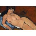 Reprodukcje obrazów Nude on a Blue Cushion - Amadeo Modigliani
