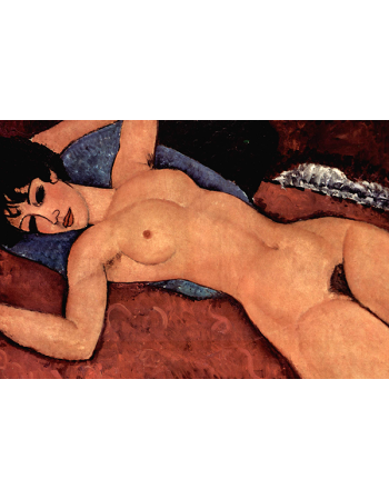Nude on a Blue Cushion II