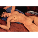 Reprodukcje obrazów Nude on a Blue Cushion II - Amadeo Modigliani