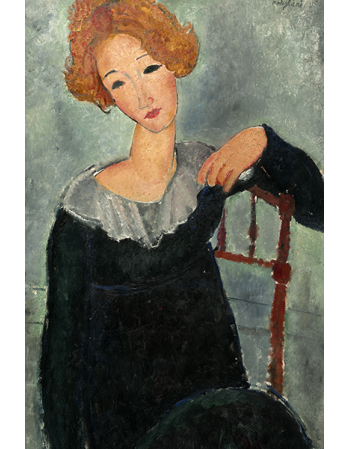 Reprodukcje obrazów Woman with Red Hair - Amadeo Modigliani