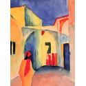 Reprodukcje obrazów A glance down an alley - August Macke
