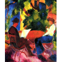 Reprodukcje obrazów At the Garden Table - August Macke