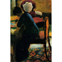 Reprodukcje obrazów Elisabeth at the Table - August Macke