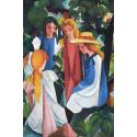 Reprodukcje obrazów Four Girls - August Macke